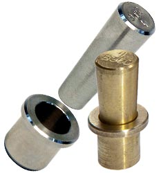 Two Piece Metal Tapered Tube Plugs