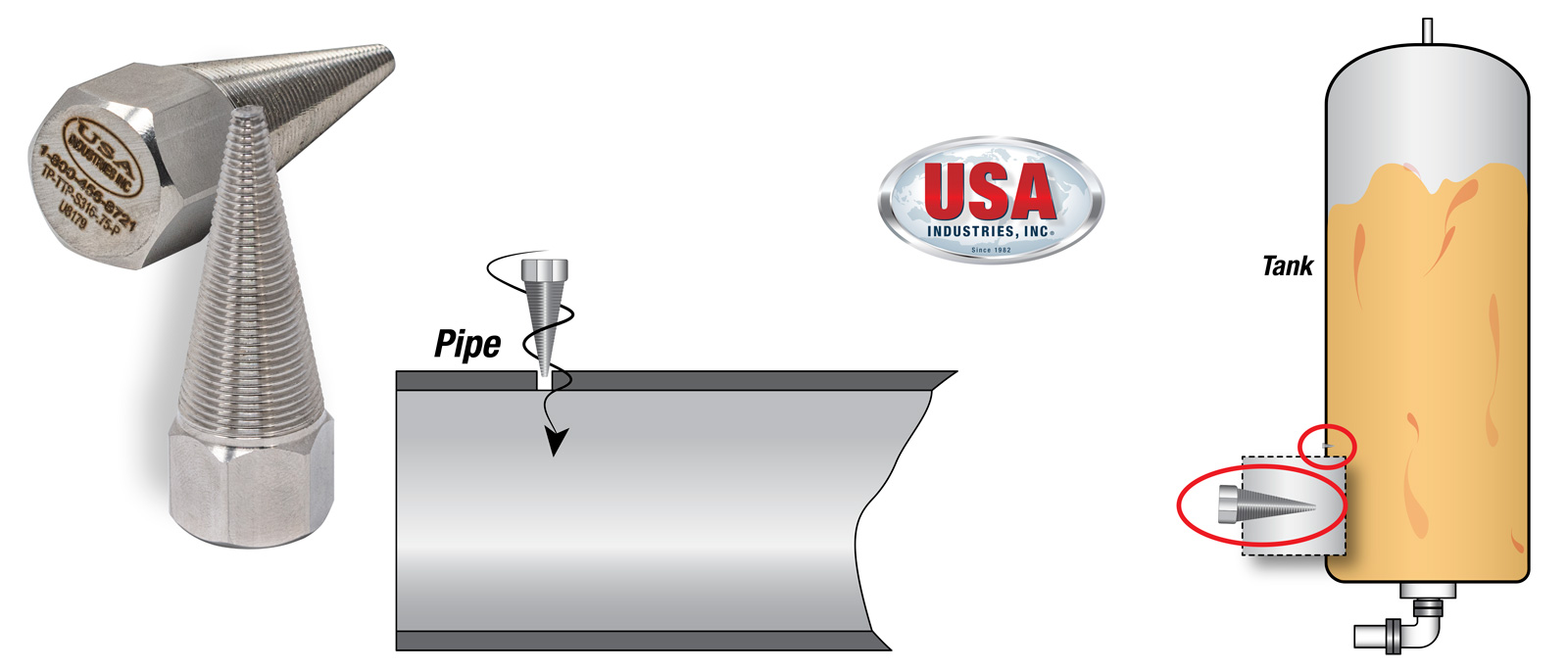 USA-Industries-Inc-Threaded-Metal-Tapered-Illustration-Added-v2