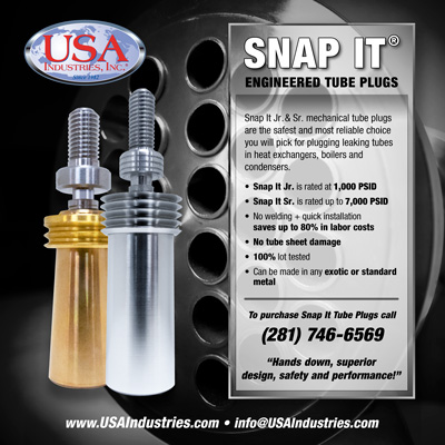 USA Industries, Inc. Snap It® Jr. Engineered Tube Plugs Image
